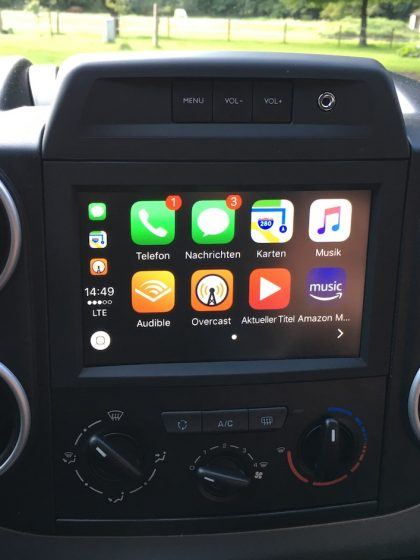 Apple Carplay im Citroen Berlingo